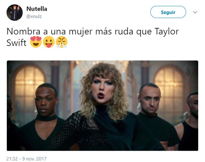 Comentarios en Twitter sobre las mujeres que son mejores que Taylor Swift