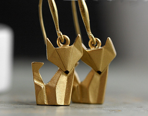 pendientes de origamis