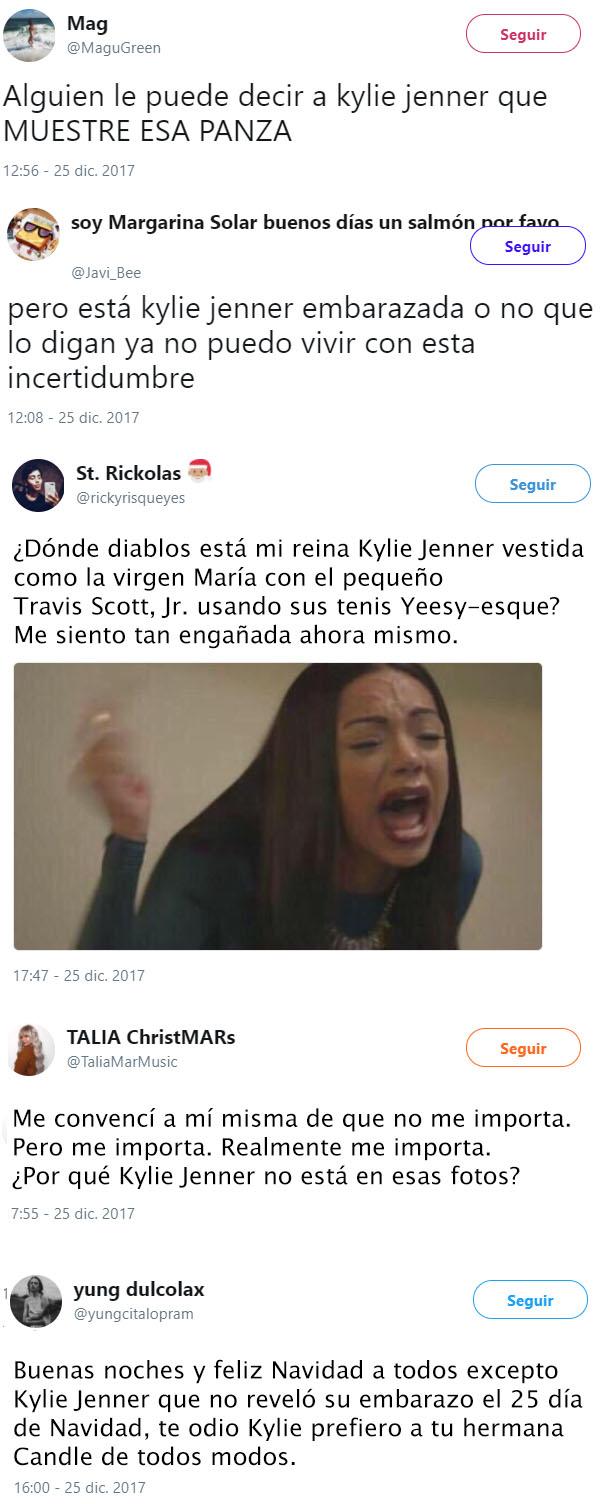 Reacciones de Kylie Jenner Navidad