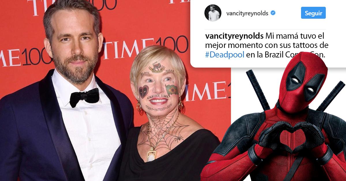 Ryan Reynolds trolea a su madre con Photoshop; sus nuevos tatuajes se ven geniales