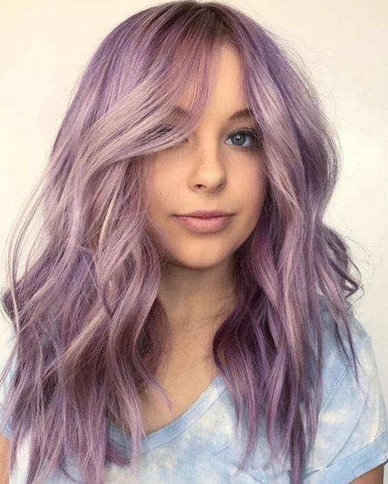 cabello lila