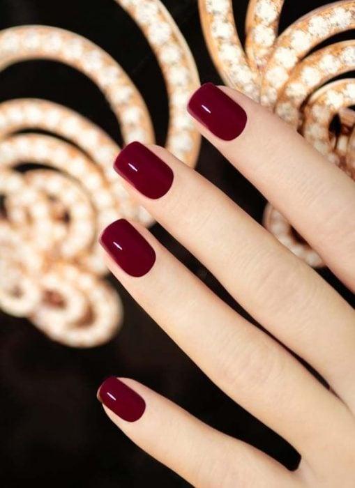 Uñas de color rojo
