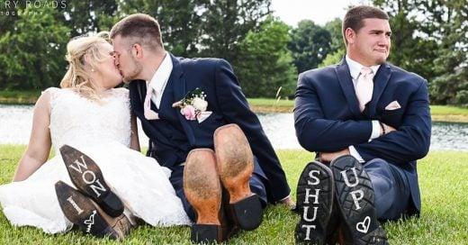 Este chico se robo la sesión de fotos de boda de su mejor amigo; el resultado es increíble