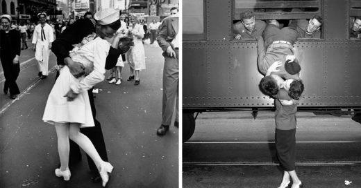 20 Cálidas fotos de la gente enamorada de antes; parece que se querían más