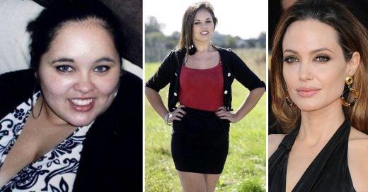 Esta mujer bajó de peso solo porque admira a Angelina Jolie