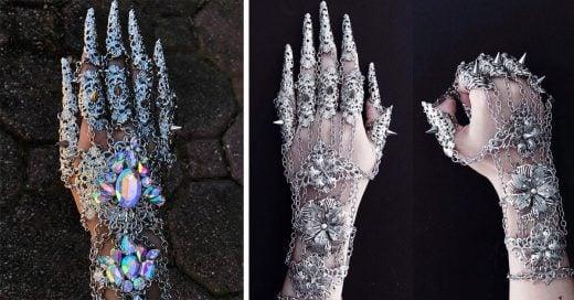 Esta diseñadora crea impresionantes guantes de metal