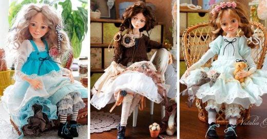 Estas muñecas hechas a mano son una verdadera obra de arte