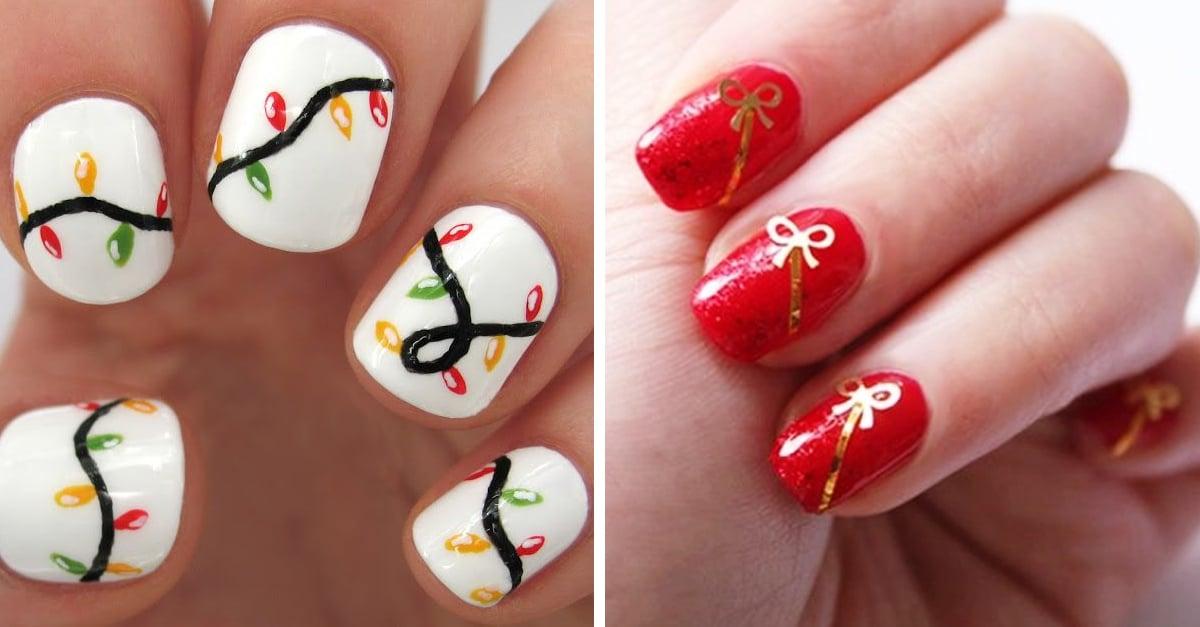 Tutoriales para decorar tus uñas navideñas en esta temporada decembrina