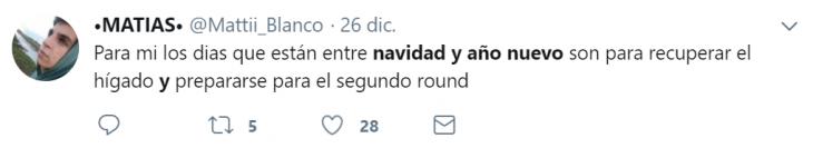 navidad y año nuevo tweet
