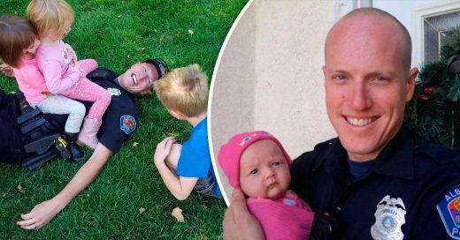 Este policía adoptó a la bebé de una chica adicta a la que también ayudó; ahora su familia se ha incrementado