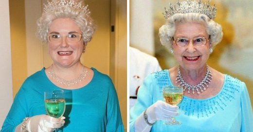 Chica recrea todos los movimientos de la Reina Isabel II; no fue tan fácil como parece