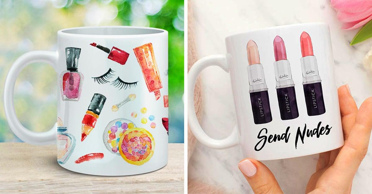 20 Tazas para regalarle a tus amigas amantes del maquillaje esta navidad