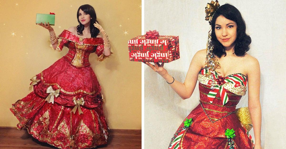 Esta mujer hace espectaculares vestidos con papel reciclado