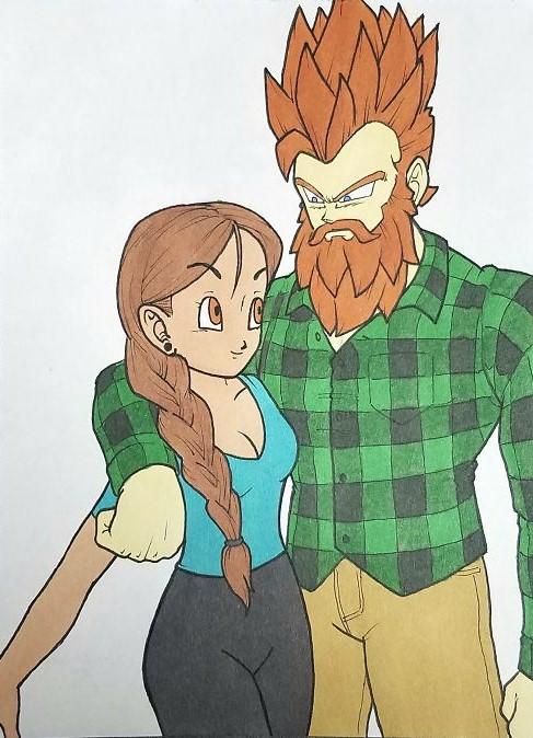 Kells O'Hickey y su novia ESTILO DRAGON BALL