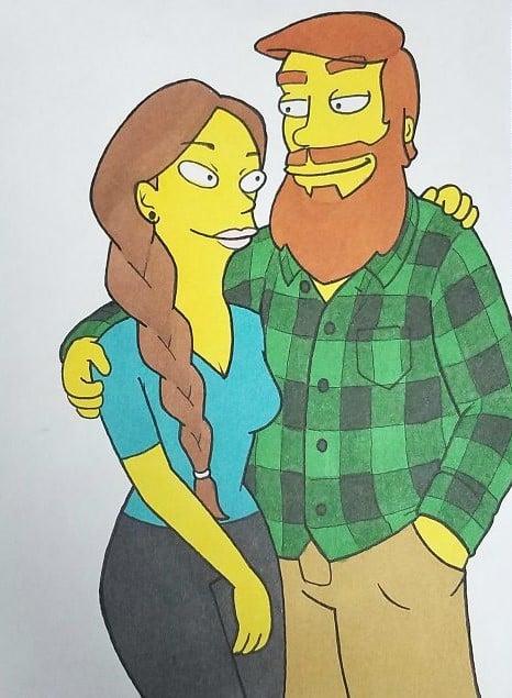 Kells O'Hickey y su novia LOS SIMPSON
