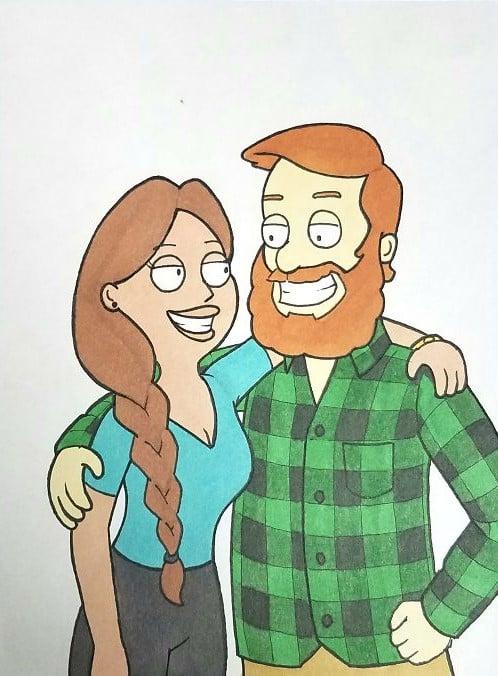 Kells O'Hickey y su novia PADRE DE FAMILIA