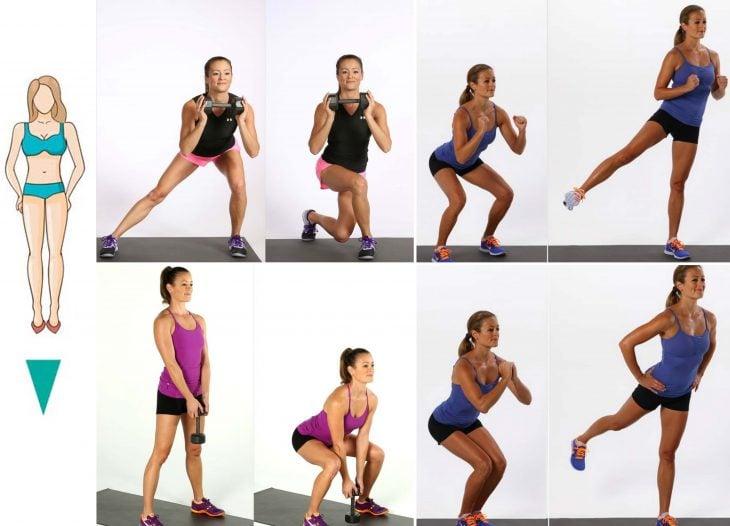 Cuerpo de triangulo invertido ejercicios