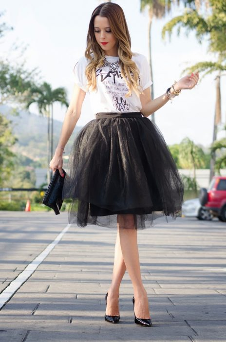 Falda de tul outfits de cumpleaños
