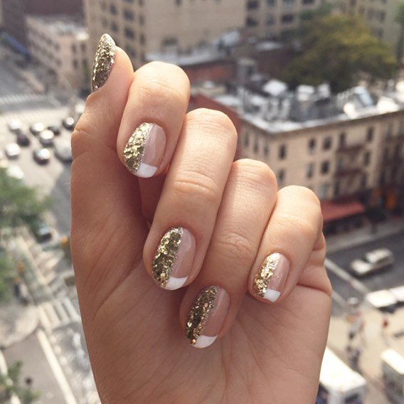 uñas con glitter