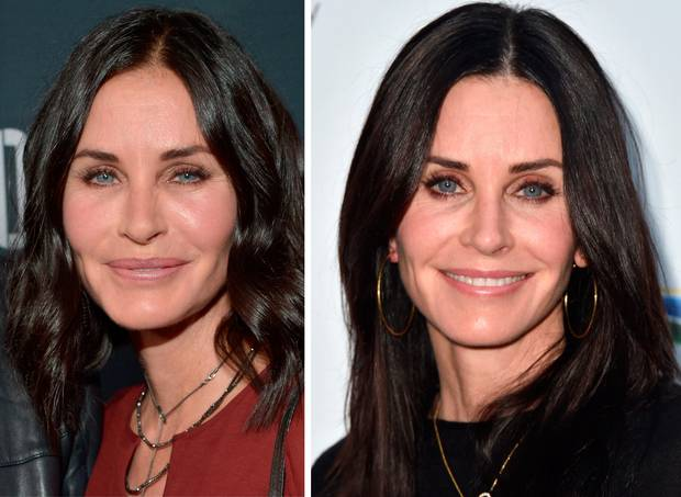 Courteney Cox antes y despues