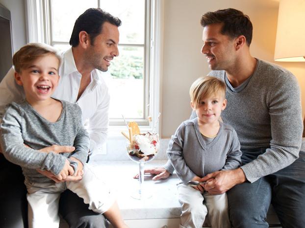 Ricky Martin y su hijo