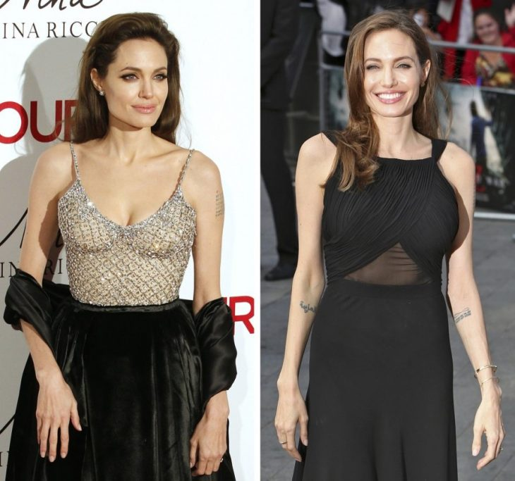 angelina jolie antes y despues masectomia