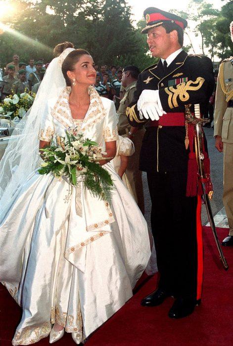 rania reina de jordan vestido de novia