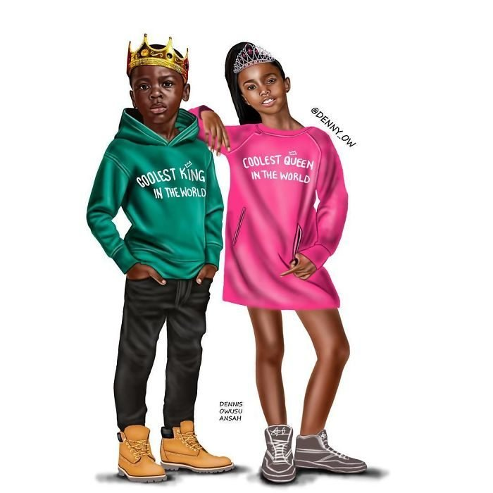 Dibujos reinterpretando campaña de H&M campaña