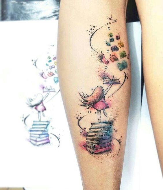 tatuaje para amantes de los libros