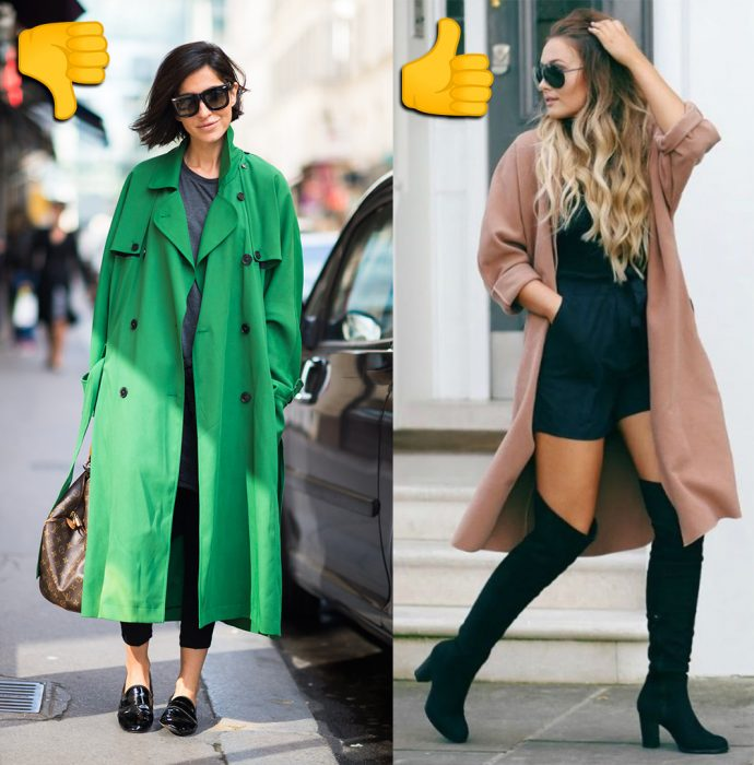 Comparación de chicas usando abrigos