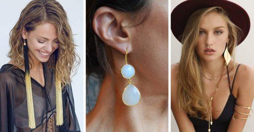 15 Diseños de maxi aretes que te darán todo el glamour que necesitas