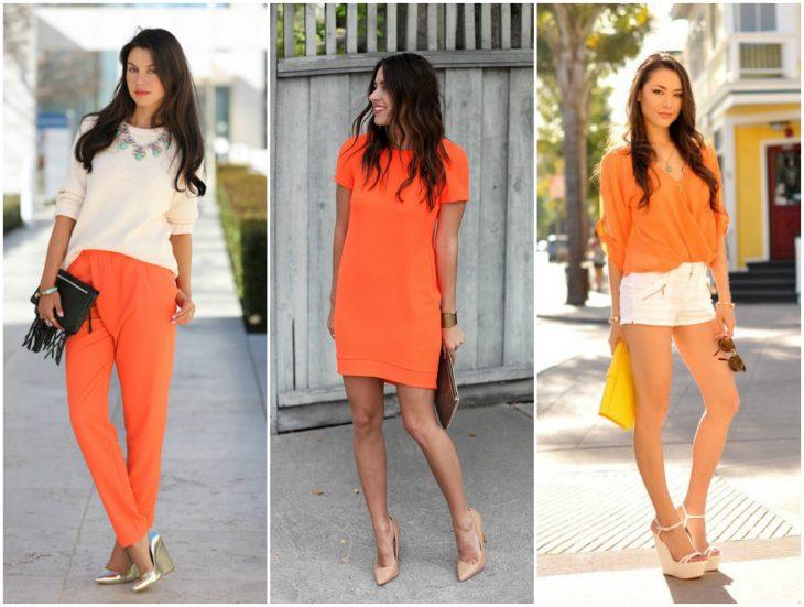 outfits en naranja