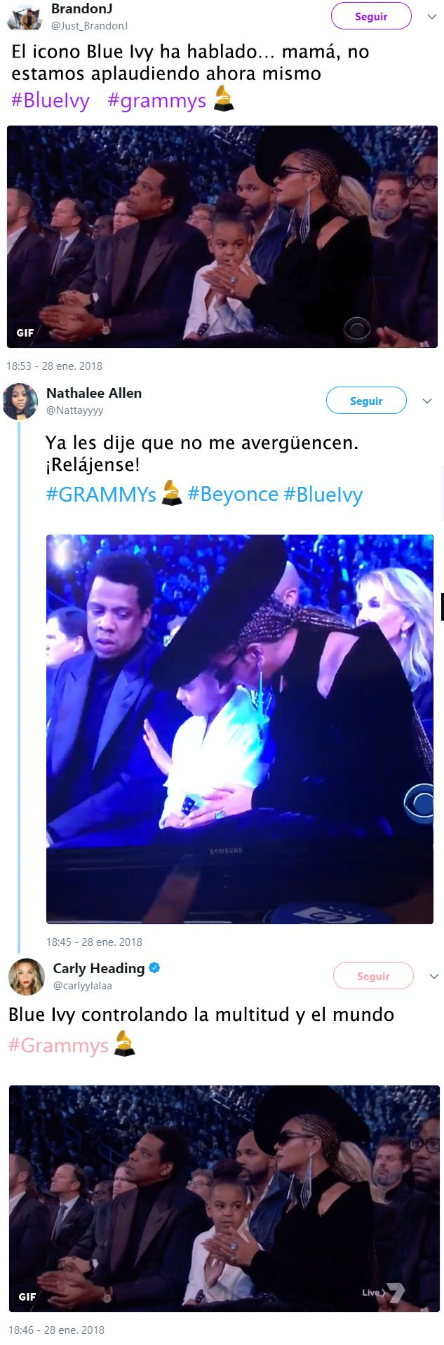Blue Ivy shut parents