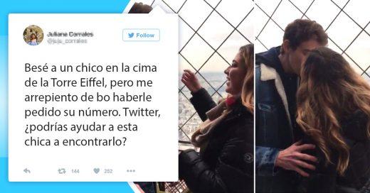 Chica busca al guapo chico que beso en la Torre Eiffel en Twitter