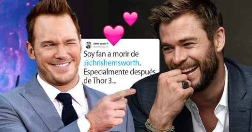 Chris Pratt se declara fan de Chris Hemsworth en Twitter