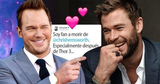 Chris Pratt se declara fan de Chris Hemsworth en Twitter