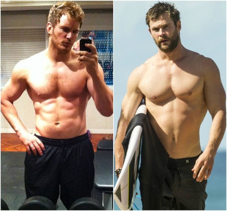 Chris Pratt y Hemsworth