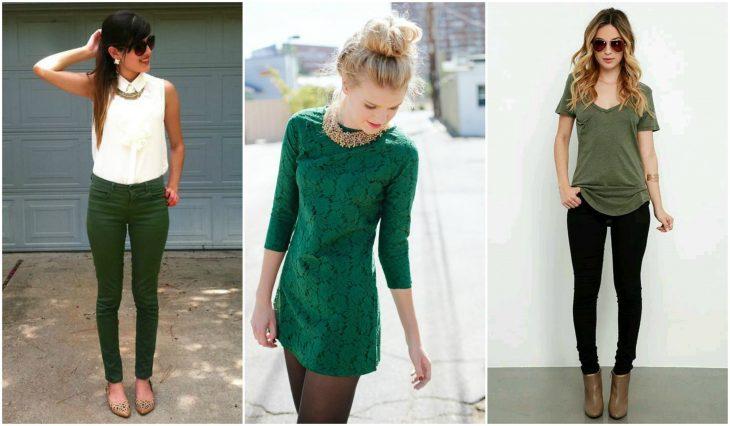outfits en color verde