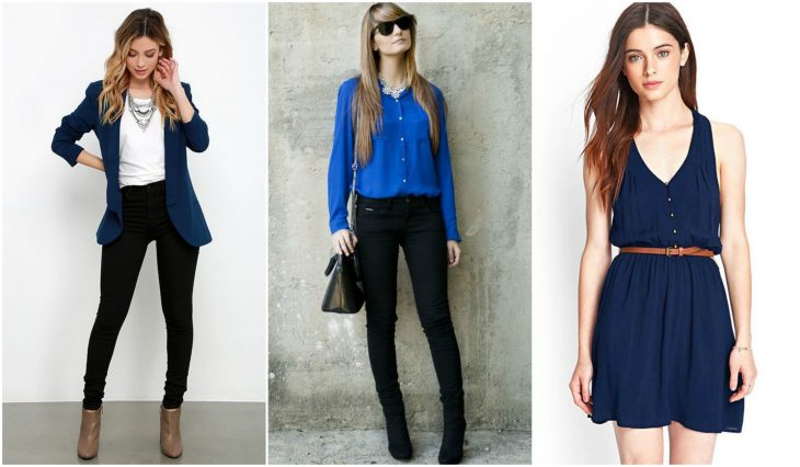 outfits en color azul