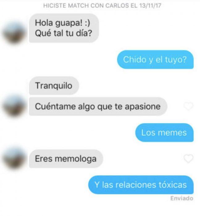 Conversaciones en Tinder que no terminaron nada bien