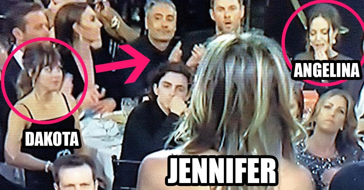 Dakota Johnson notó cómo Angelina ignoraba a Aniston en los Golden Globes