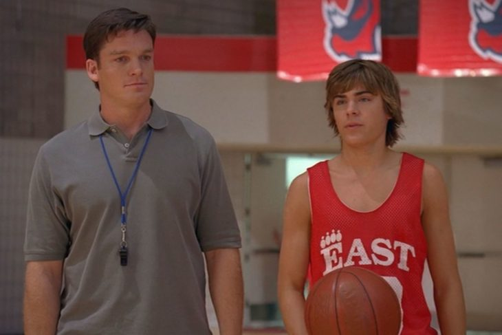 Troy y su papa en la película high school musical