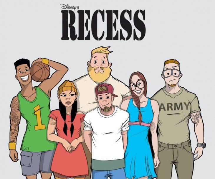 Caricatura de Recreo dibujados como si fueran adultos