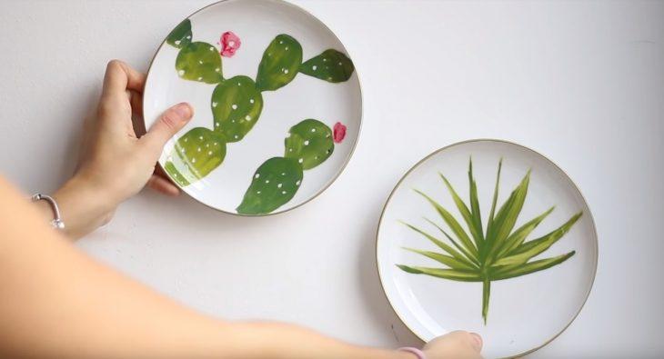 platos de pintura