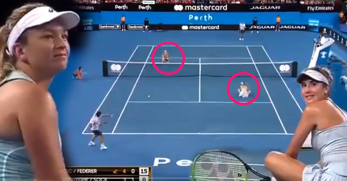 Estos tenistas profesionales ignoraron a sus compañeras de juego