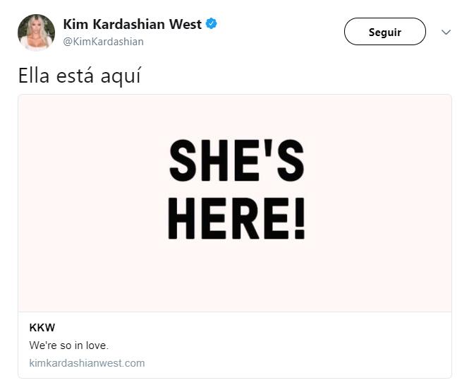 Kim Kardashian confirma que su hija nació
