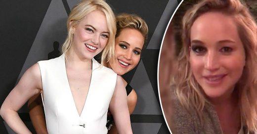 Jennifer Lawrence no fue a los Golden Globes, así que Emma Stone fue a su casa