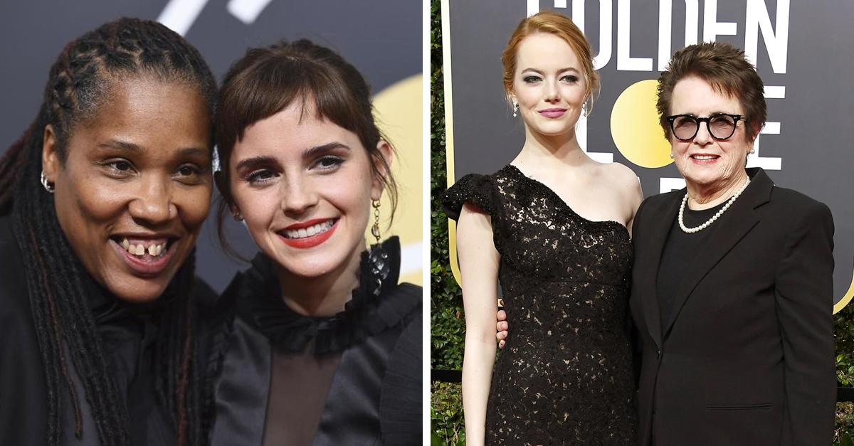 Famosas que llegaron de la mano de activistas a los Golden Globes