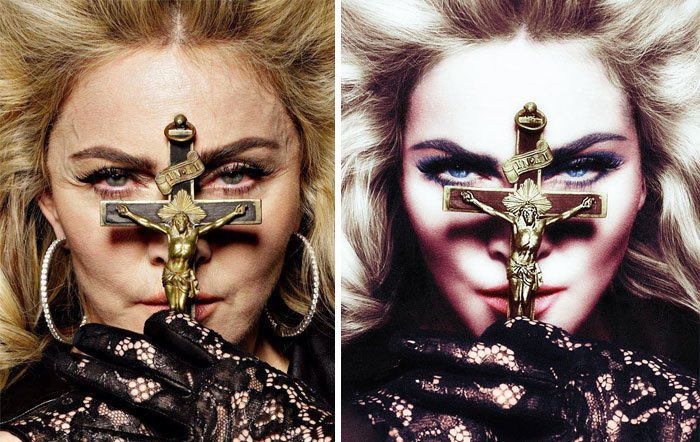 mujer sosteniendo una cruz