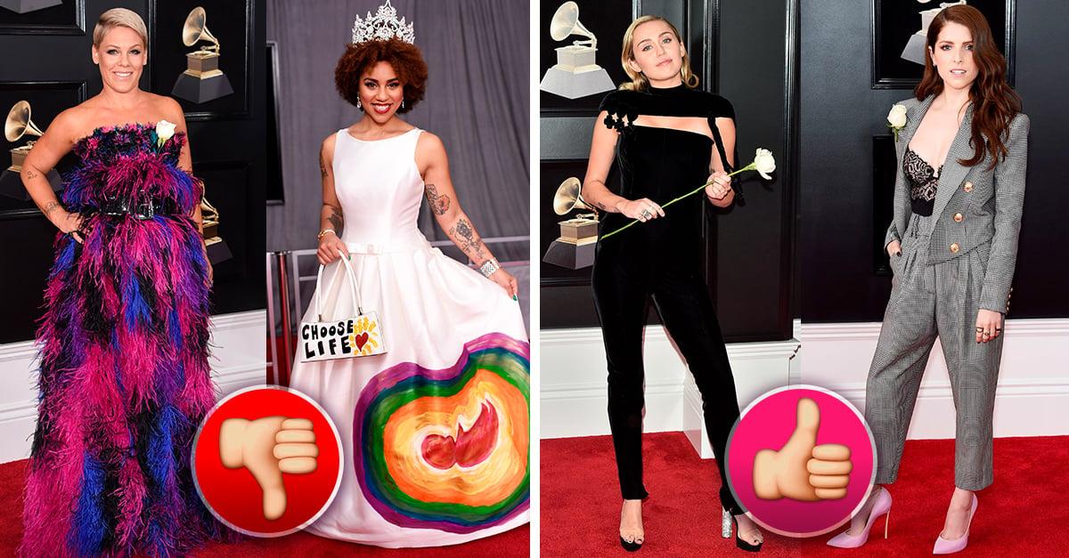 Ellas son las mejor y peor vestidas de los Grammys 2018